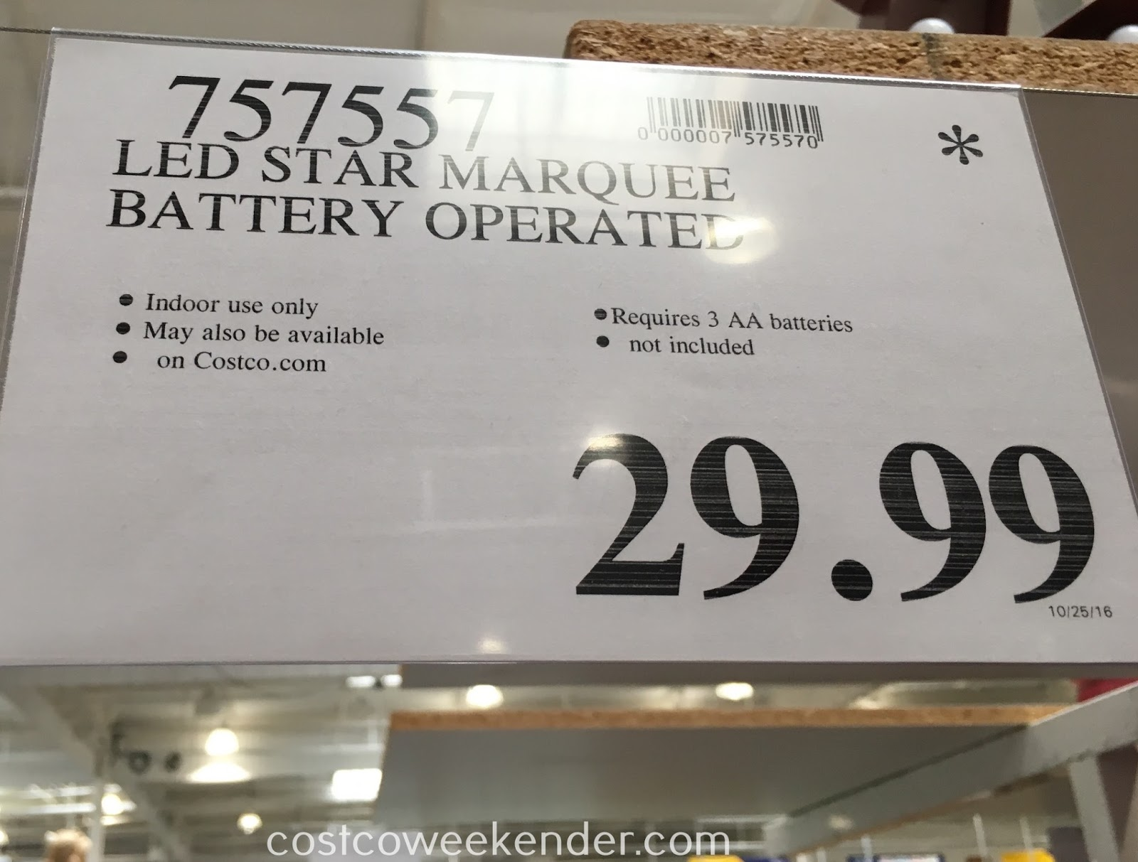 Costco 757557 - Deal for the LED Marquee Star at Costco
