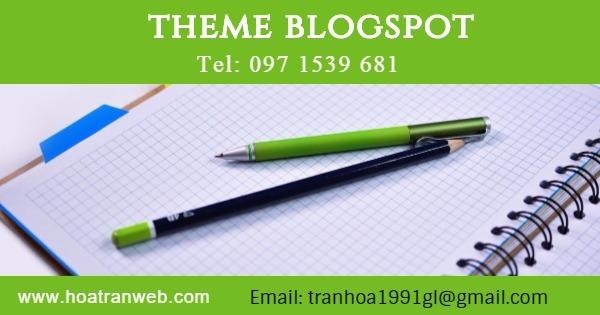 Mẫu Blogspot trắng tinh để thiết kế blogspot