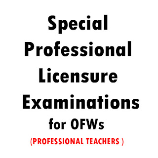 Special Professional Licensure Examinations for OFWs