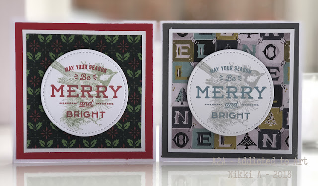 Tim Holtz Festive Overlay stamp set and Christmas Worn Wallpaper