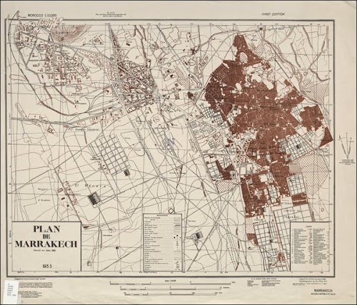 Médina de Marrakech - carte 1935