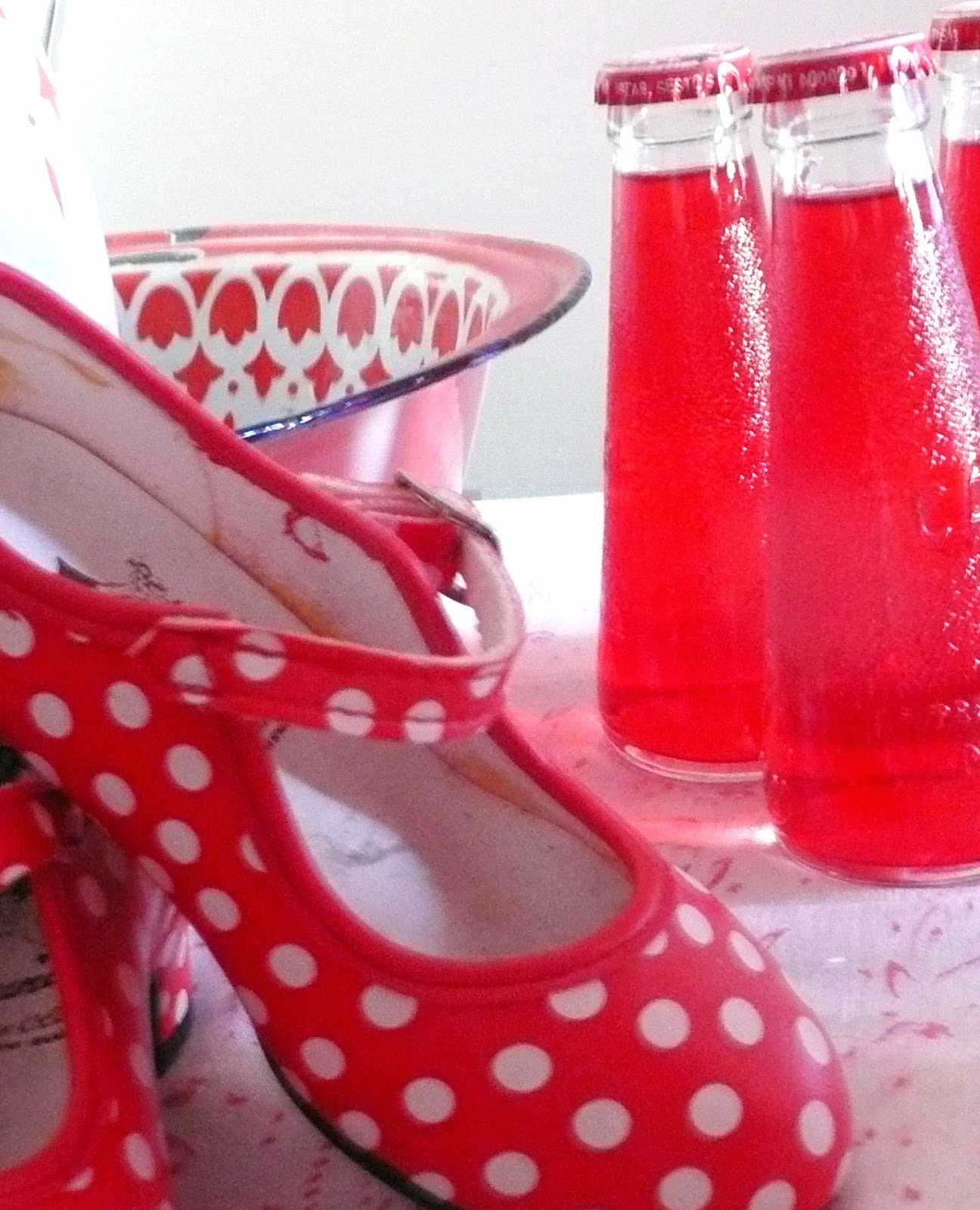 red flamenco dotty shoes