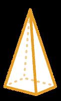 立体のイラスト(四角錐)