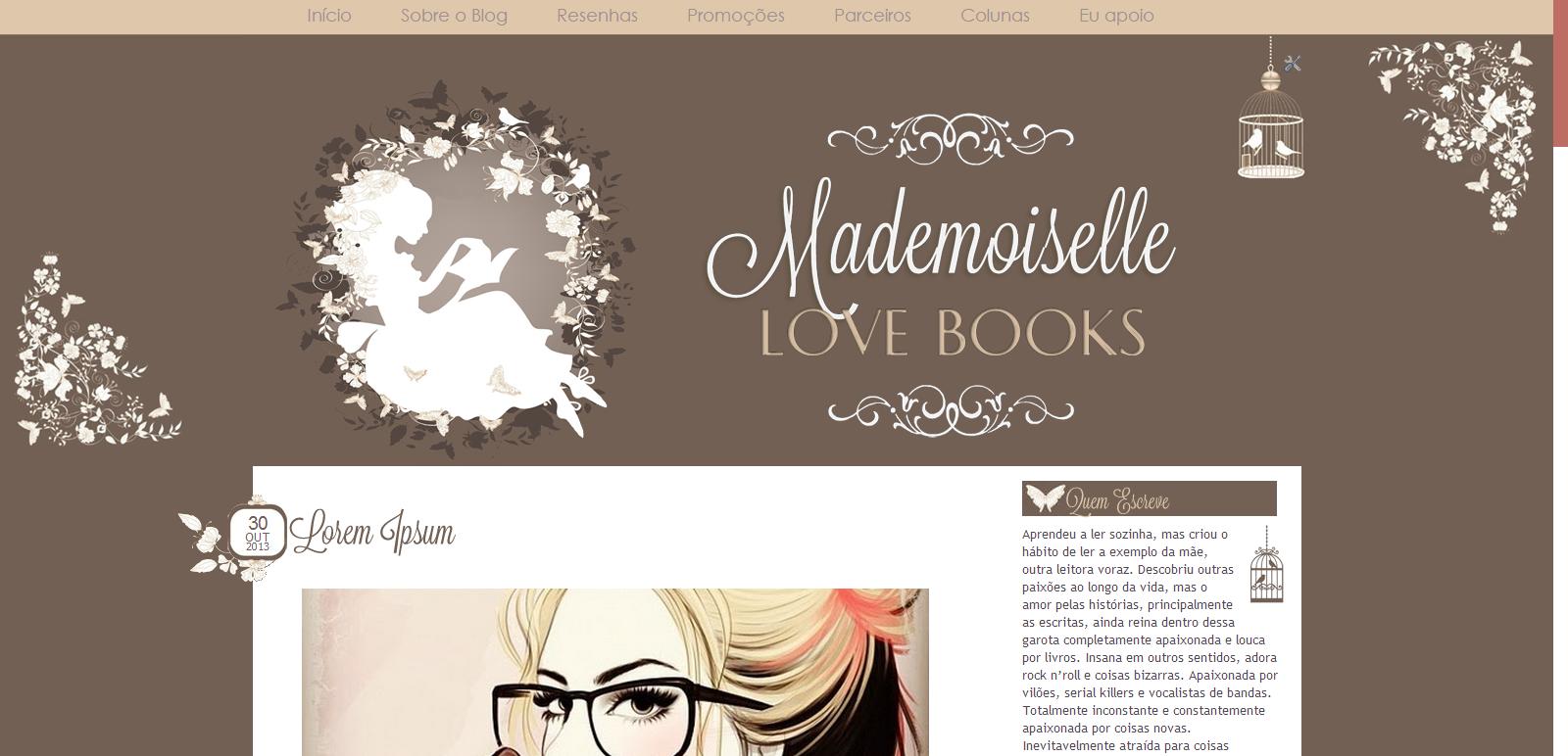 Mademoiselle Loves Books (antigo)