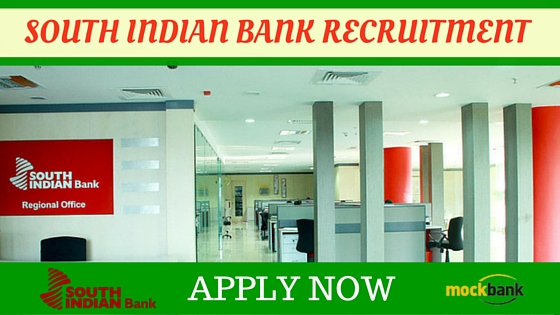 South Indian Bank Limited Recruitment 2017. South India Bank 402 POs Recruitment Notification-Apply Online South Indian Bank Recruitment 2017 402 Probationary Officer & Probationary Clerk South Indian Bank is going to recruit fresher candidates in India for Probationary Officer & Probationary Clerk Posts. So, those candidates who are willing to work with this organization they May apply for this post on or before 27-Jan-2017. Total numbers of vacancies are 402 Posts. Only those candidates are eligible who have a Should Passes Graduation Degree,M.Sc.IT or its equivalent qualification from a recognized Board/University.Indian citizen having age in between 18 to 38 years can apply for this South Indian Bank Limited Recruitment 2017.Those who are interested in these South Indian Bank jobsin India and meet with the whole eligibility criteria related to these South Indian Bank job below in the same post. Read the whole article carefully before applying.