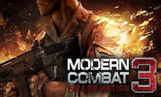 تحميل لعبة الاكشن والقتال مودرن كومبات 3 Modern Combat 3 Fallen Nation v1.1.4g المدفوعة كاملة اخر اصدار