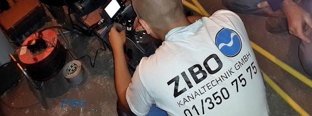 Kanaltechnik ZIBO Baumwurzel fräsen in Kanal » Wurzel Roboter fräsen » Kanalkamera Untersuchung u. Hochdruck Rohrreinigung Kanal - Robotertechnik