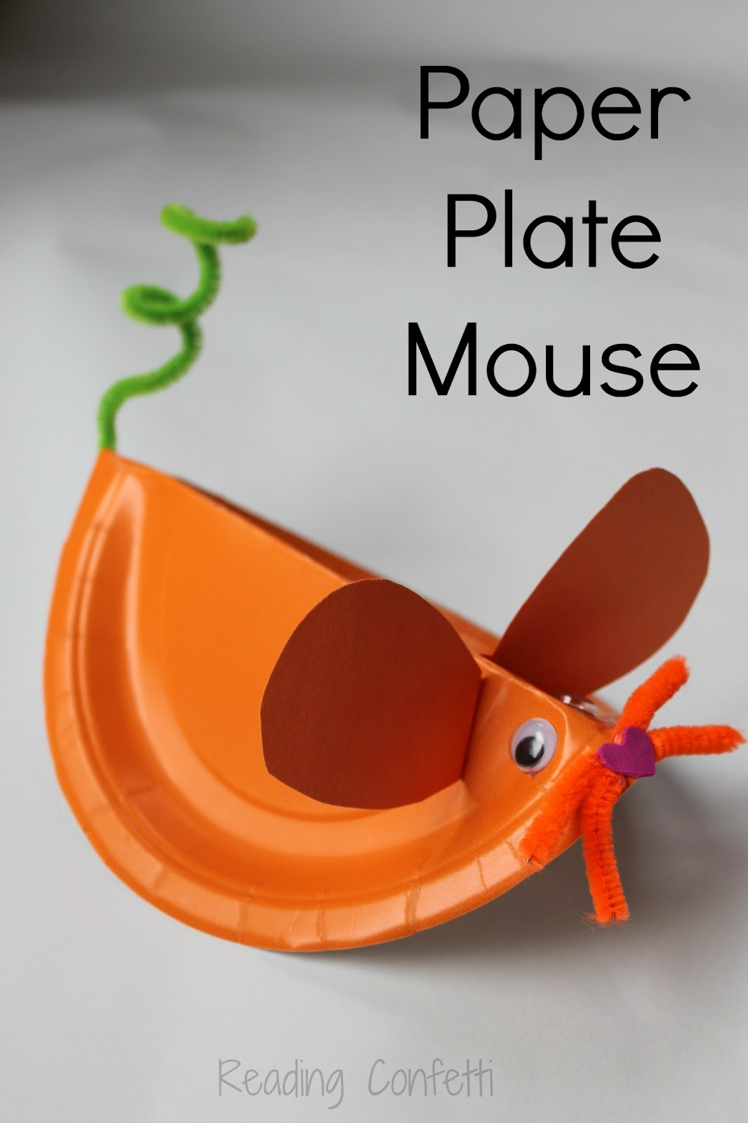 Paper Plate Mouse Virtual Book Club For Kids Reading
