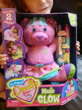 Review of Starr the pink Magic Glow Doodle Bear