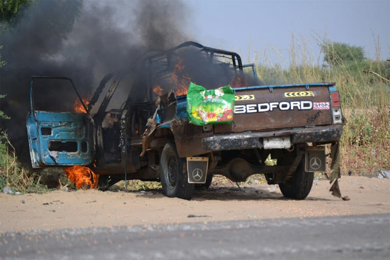 Graphic photos from failed suicide bomb attack in Borno State today
