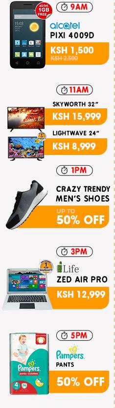 http://c.jumia.io/?a=59&c=9&p=r&E=kkYNyk2M4sk%3d&ckmrdr=https%3A%2F%2Fwww.jumia.co.ke%2Fflash-sales%2F&s1=Anniversary%20Flash%20Sale&utm_source=cake&utm_medium=affiliation&utm_campaign=59&utm_term=Anniversary Flash Sale