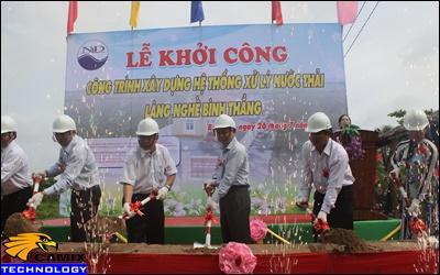Cải tạo đạt tiêu chuẩn công trình xử lý nước thải - 77,6 tỉ đồng xây dựng hệ thống xử lý nước thải làng nghề