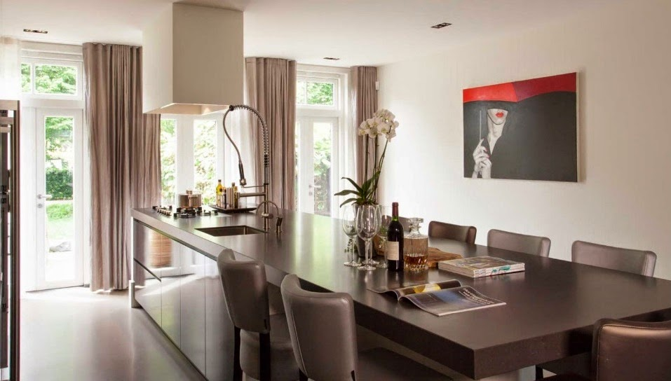 Cocina con comedor integrado una asociaci n perfecta for Cocinas comedor con islas modernas