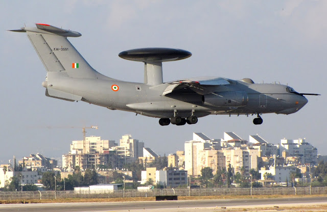 A-50EI (Il-76) of the Indian Air Force with the EL/W-2090