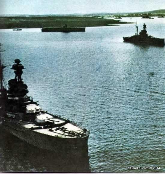 La base naval británica de Scapa Flow
