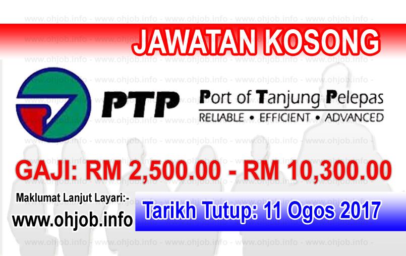 Jawatan Kerja Kosong Pelabuhan Tanjung Pelepas Sdn Bhd - PTP logo www.ohjob.info ogos 2017
