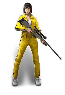 Personaje Kelly de Free Fire Battlegrounds