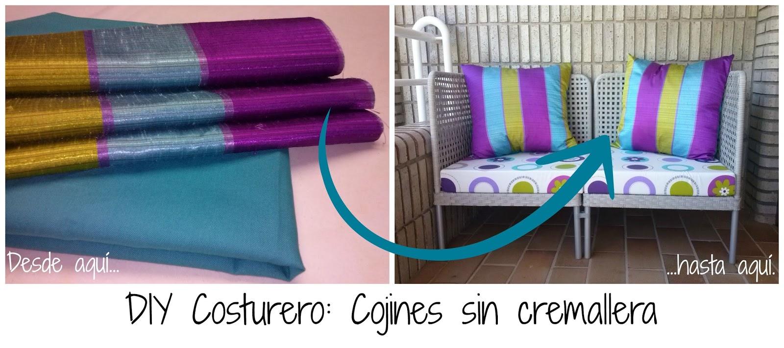 DIY COSTURERO: COJINES SIN CREMALLERA