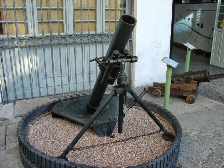 Morteiro 120 mm, Fabricado no Rio de Janeiro e exposto no Museu do Comando Militar do Sul, em Porto Alegre