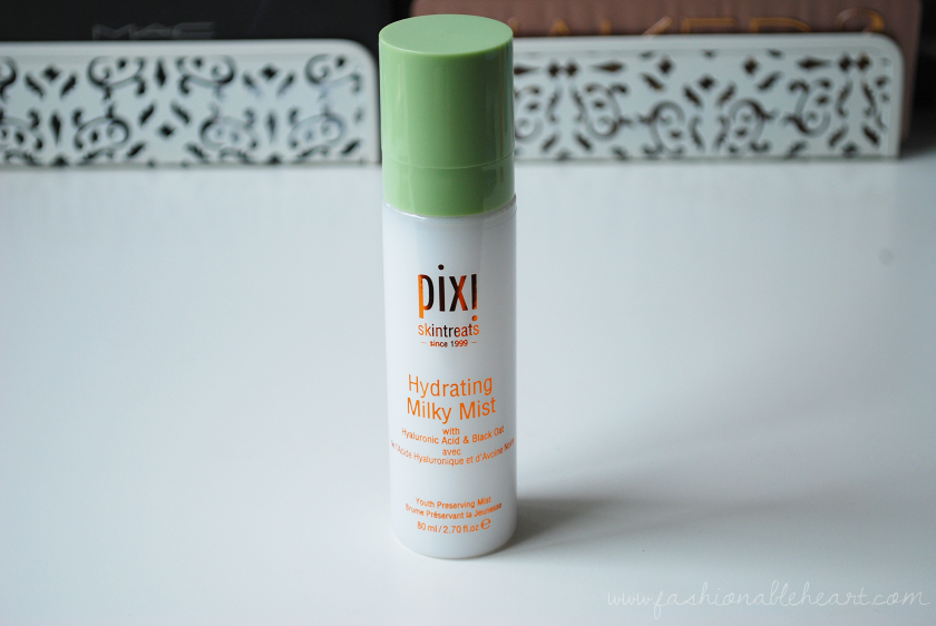 bbloggers, bbloggersca, canadian beauty bloggers, skincare, dry skin, pixi, pixi beauty, pixi skintreats, hydrating, milky mist, hydrating milky mist, review, works, hyaluronic acid, skin routine, beauty blog