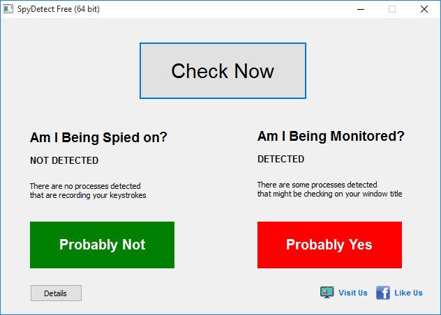 SpyDetect Free - Δωρεάν πρόγραμμα ελέγχου παρακολούθησης του υπολογιστή