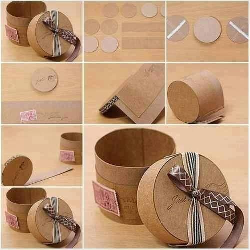 Ide Kreatif Membuat Kotak Penyimpanan Unik Untuk Hiasan Meja dan Box Kado
