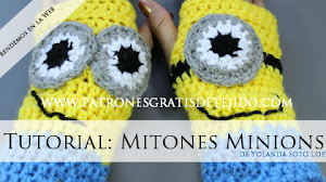 Aprende a tejer Mitones de Minions / Tutorial en video