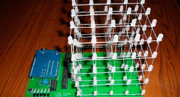 Rangkaian Sederhana LED CUBE Tanpa Mikrokontroler