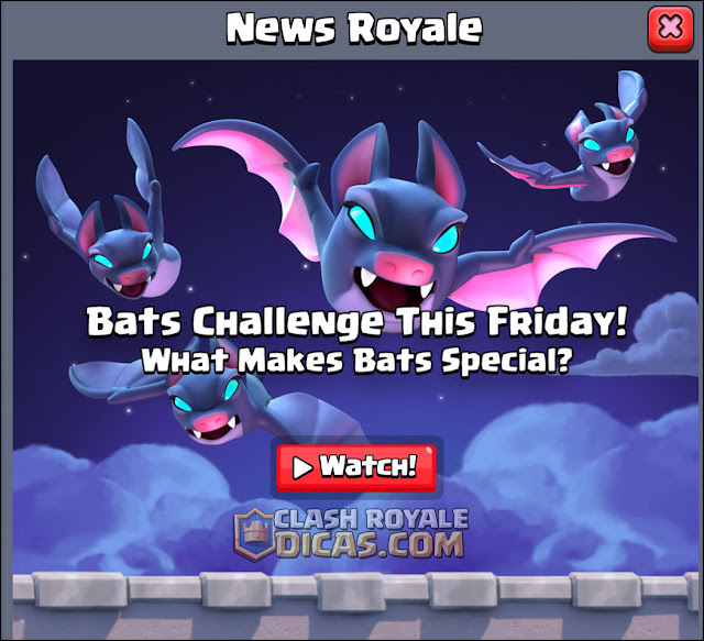 Desafio dos Morcegos no Clash Royale