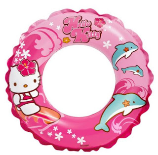 Gambar Hello Kitty Ban Berenang Lucu