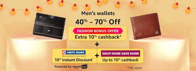 Men's Wallet 40% to 70% off