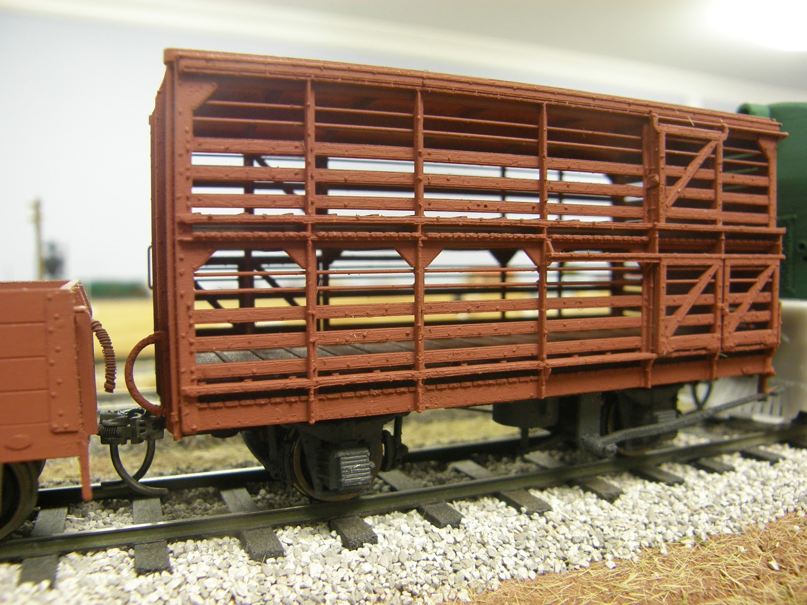 cxb sheep wagon after added detailing and painting