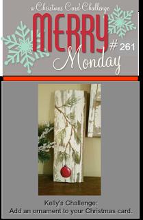 http://merrymondaychristmaschallenge.blogspot.ca/2017/10/merry-monday-261-ornaments.html
