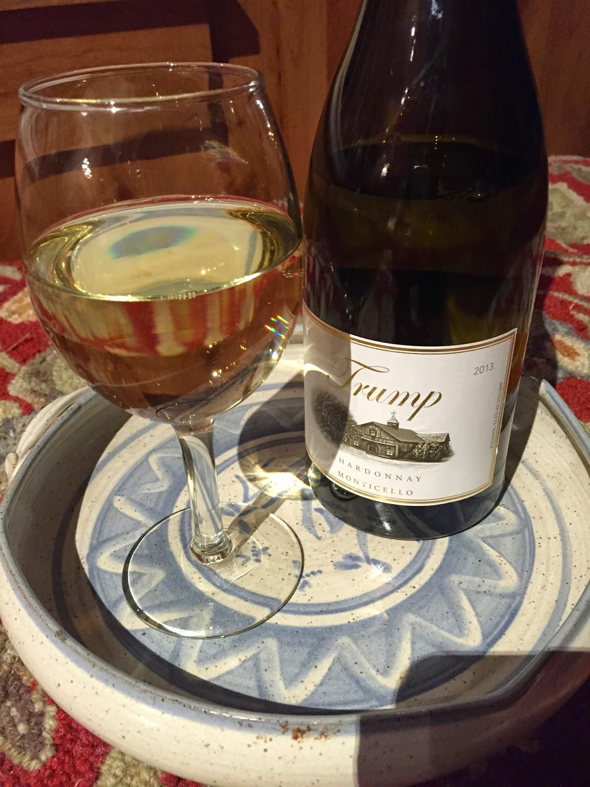 trump winery, monticello, chardonnay, white wine, virginia wine