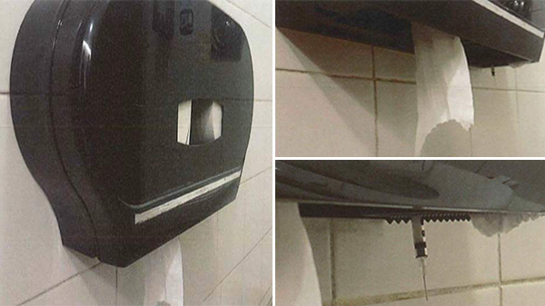 New 'HIV Attack' scares netizens: syringe in tissue dispenser