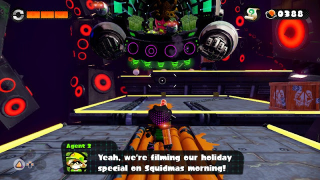 Agent 2 Squidmas holiday special Hero Mode Splatoon