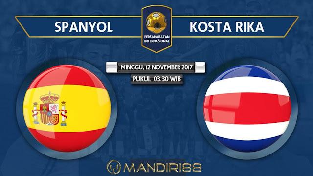 Prediksi Bola : Spain Vs Costa Rica , Minggu 12 November 2017 Pukul 03.30 WIB