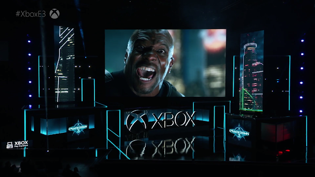 Terry Crews Crackdown 3 E3 Xbox One Microsoft 2017 yelling angry black