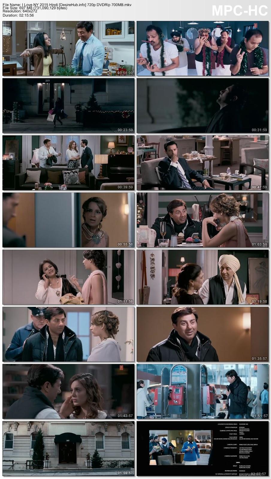 I Love NY 2015 Hindi 480p DVDRip 350MB Desirehub