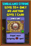 Unbalance - Wizard101 Card-Giving Jewel Guide
