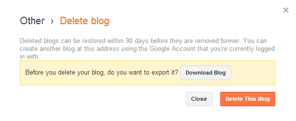 Cara cepat import content, back up content dan menghapus blog