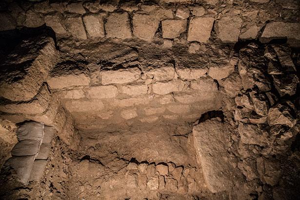 קטע חומה שתוארך לימי חזקיהו המלך