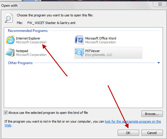 Computer Guru: How to open  eml files