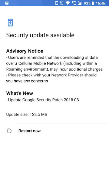 Nokia 5 August 2018 Android Security update