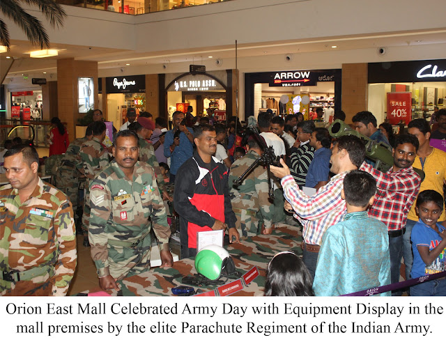 Orion East Mall Celebrates Army Day with Equipment Display and Band Performance