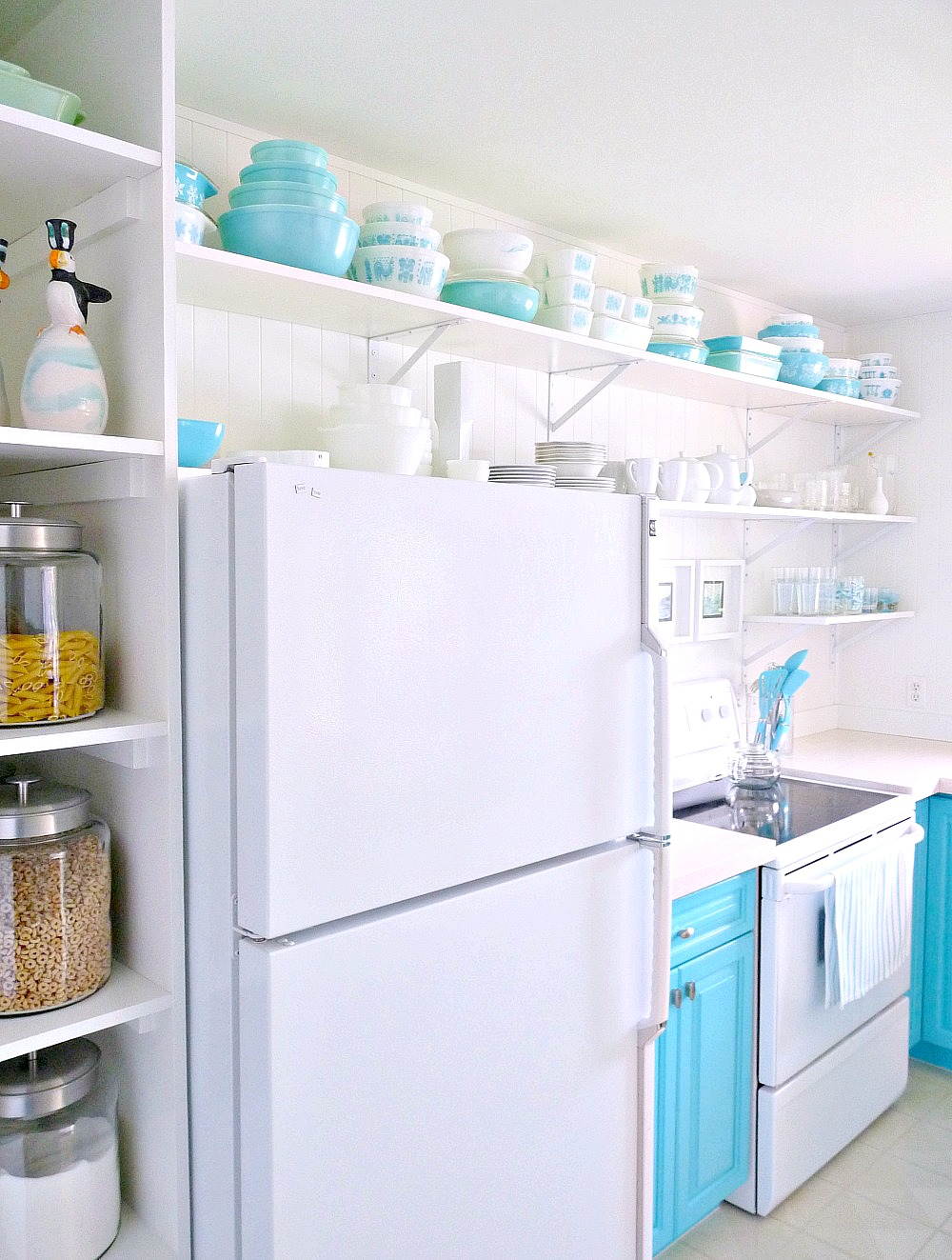 Lake House Kitchen A Budget Friendly Turquoise Kitchen Makeover Dans Le Lakehouse