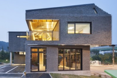 Tampak Depan Rumah tingkat Minimalis modern 2 Lantai