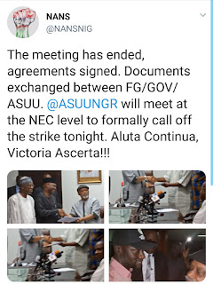 #AsuuStrike : FG And ASUU Reach Compromise, To Call Off Strike