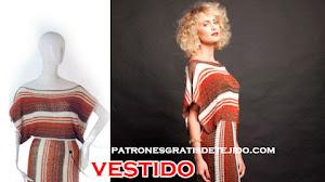 Vestido Étnico para Tejer al Crochet / patrones y moldes