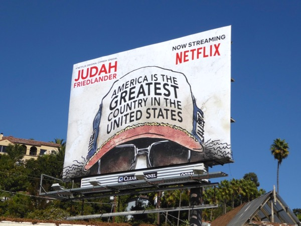 Judah Friedlander America Greatest Country in United States billboard